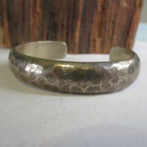 Antique Sterling Arts and Crafts Hammered Bracelet